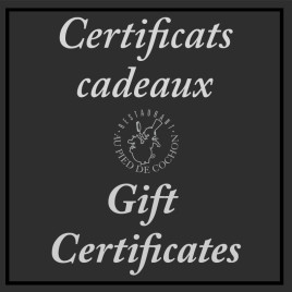Gift Certificate (50$ or more)